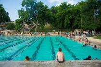 Deep Eddy Pool's 100th Anniversary Party, Austin, Texas, May 21, 2016.