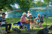 Melancholy Ramblers performing at Deep Eddy Pool's 100th Anniversary Party, Austin, Texas, May 21, 2016.